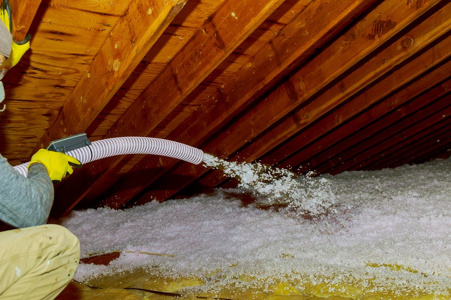 Blown in attic insulation can settle